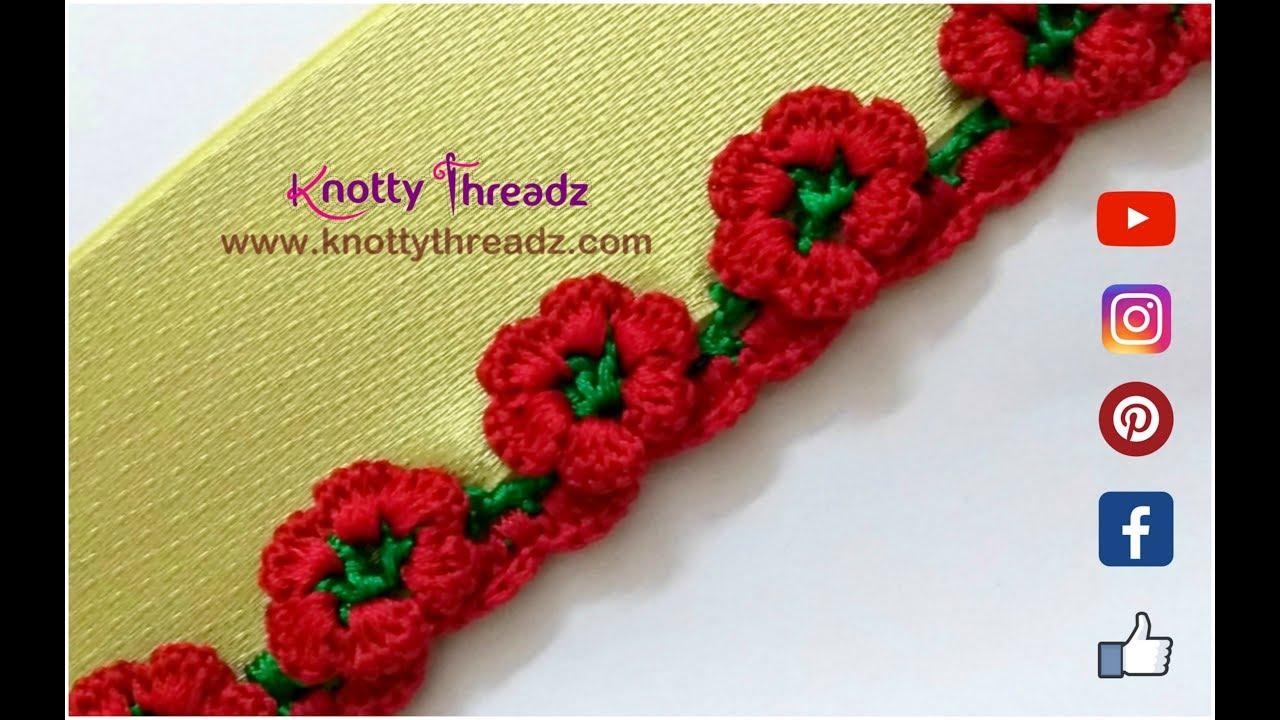 How to Crochet Beautiful Flower Design Border