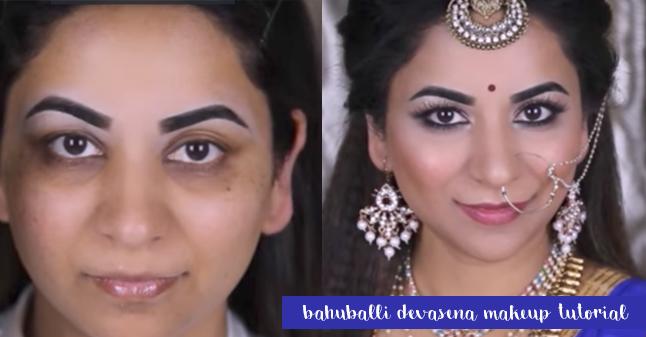 BAHUBALI 2 - DEVASENA (ANUSHKA SHETTY) MAKEUP AND HAIR TUTORIAL