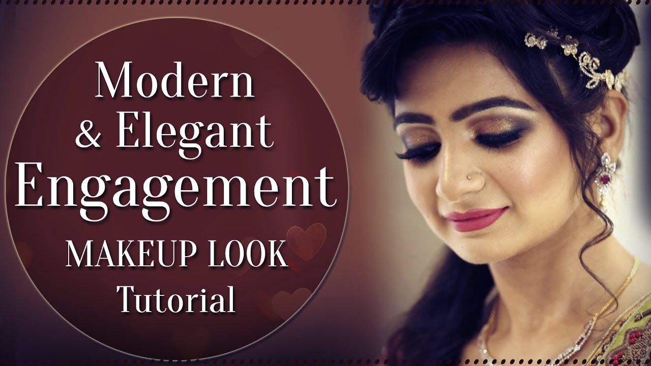 Modern & Elegant Engagement Makeup Look Tutorial