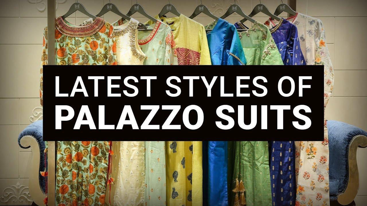 Latest Palazzo Suit Designs 2018 | Style Palazzo Pants